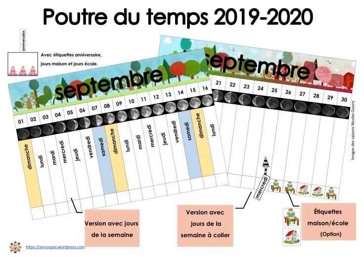 TEMPLATE Poutre du temps PE 2019-2020 Century Gothic
